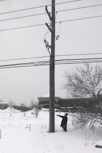 AYR checking a pole