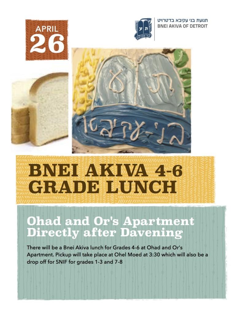 4-6 grade lunch