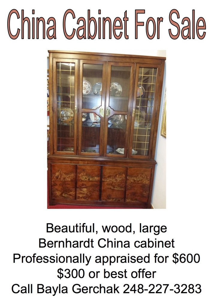 Beautiful large china cabinet