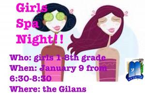 Girls Spa Night